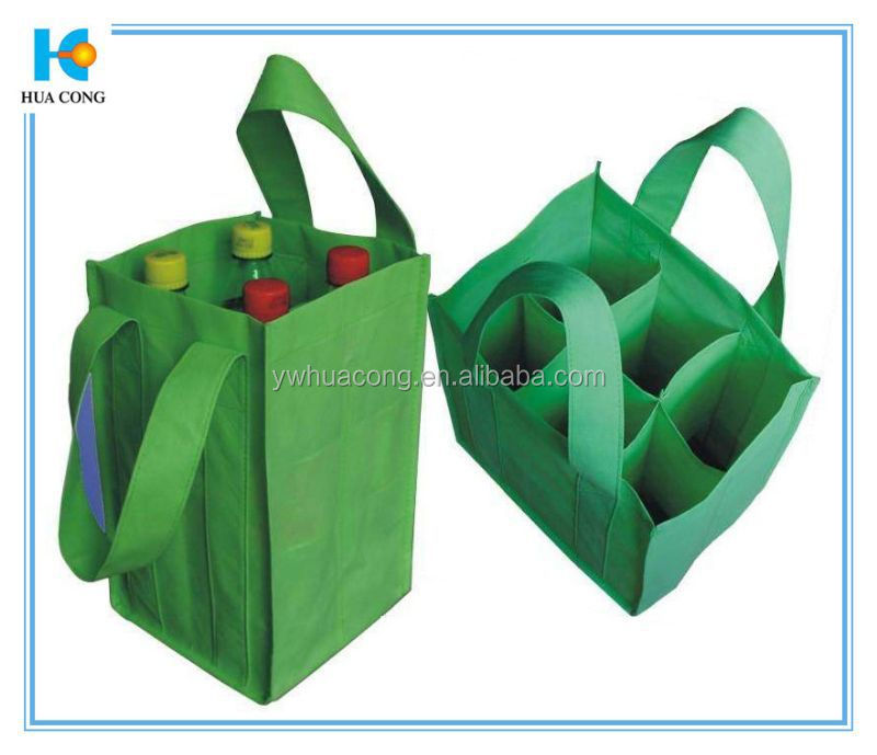 reusable wine bags sturdy shopping bag with 6 bottles