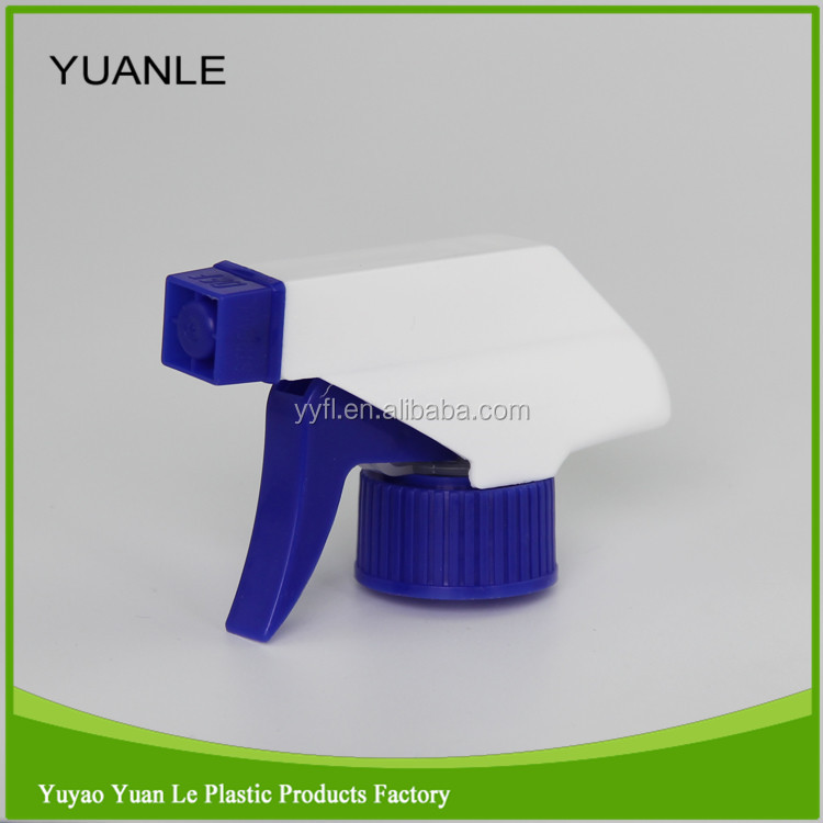 blue / white chemical resistant trigger sprayer for car wash