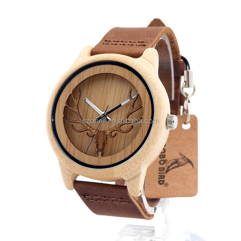 Wholesale charming style stylish brand your own name wood watch