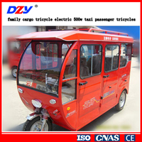 family cargo tricycle electric 500w taxi passenger tricycles