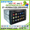 ZESTECH car dvd android universal dvd with gps stereo system wifi CPU 1.6Ghz