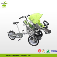 Folding 3 Wheel Tricycle Cargo Bike Mother And Baby Stroller