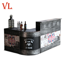 Commercial fast food restaurant and home metal wood marble modern coffee bar counters for sale