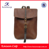 high quality leather backpack/new design custom backpack/wholesale leather backpack
