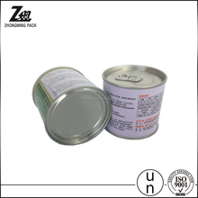 pop-top tin container with easy open lid
