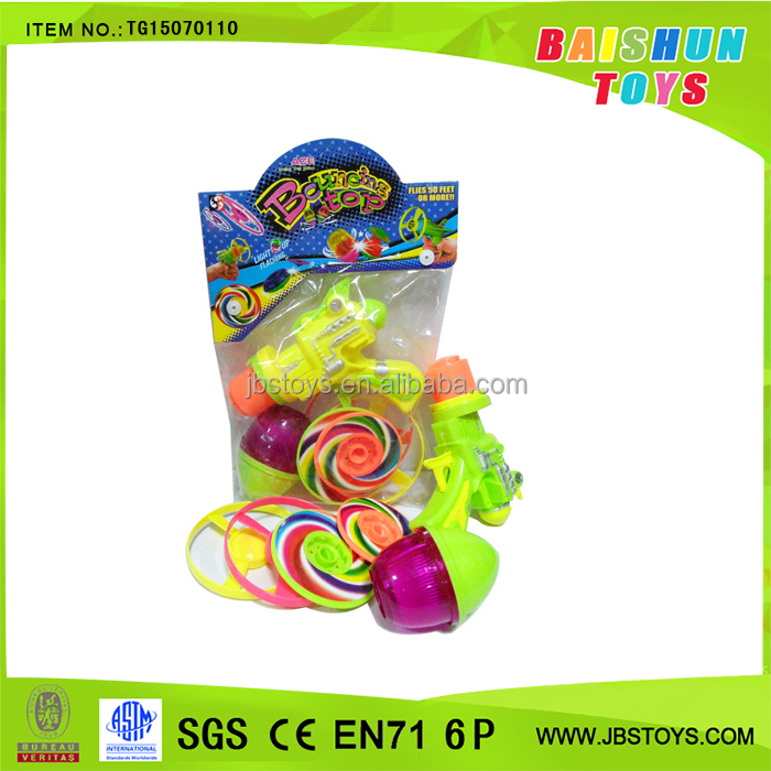 Promotion toy bouncing toys tornado spinning top set tg15070110