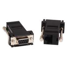 DB9 Female to RJ45 8P8C Modular Connector Adapter