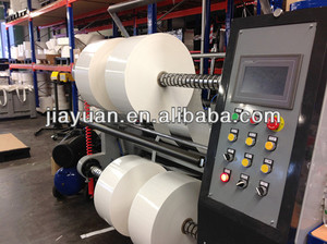 foam tape slitting machine, foam tape slitter, foam tape slitter rewinder