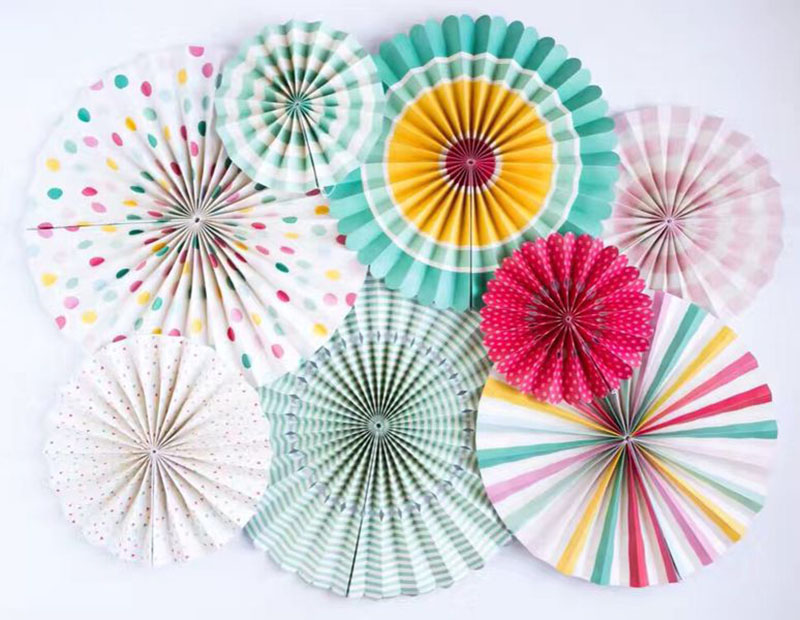 Multi-color Paper Pinwheel Fan Handmade Craft Party Decoration