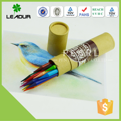 color pencil pack in paper tube