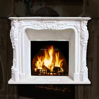 2016 High Quality New Design French Caramel Elegance Indoor Freestanding Fireplace Mantel