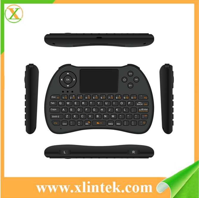 2.4GHz mini keyboard bluetooth ROHS H9 Smart keyboard with multi number and touch pad