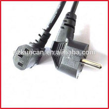 Euro Standard Plug with IEC C8 End Plug Power cords