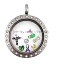 316L stainless steel spirit locket jewelry with charm