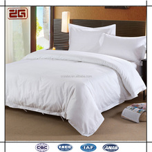 White Hotel Bed Linen Set Custom Embroidery Cotton Hotel Bedding Set