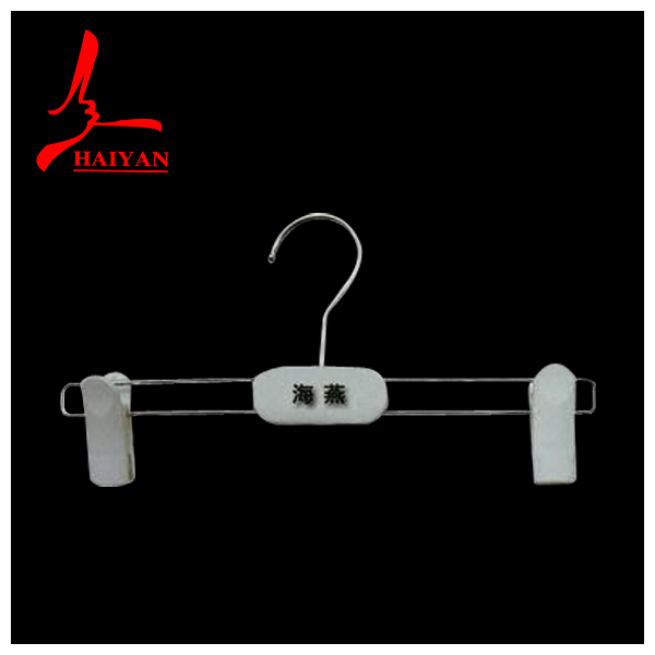 high quality plastic hanger for pants&dress with 2 pcs