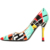 new popular hottest stylish low MOQ OEM customized designer brand fashion ladies dress women colorful dress shoes