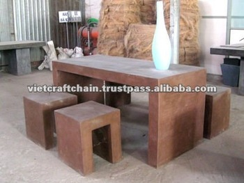Light Cement Table Set Lite Concrete Furniture Lightweight Concrete Buy Concrete Outdoor
