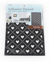 27654 decorative heart PVC adhesive stencil