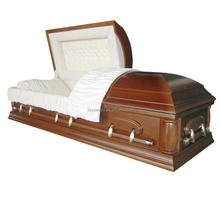 Top artificial velvet mainland china direct selected pecan arm casket colors of coffin