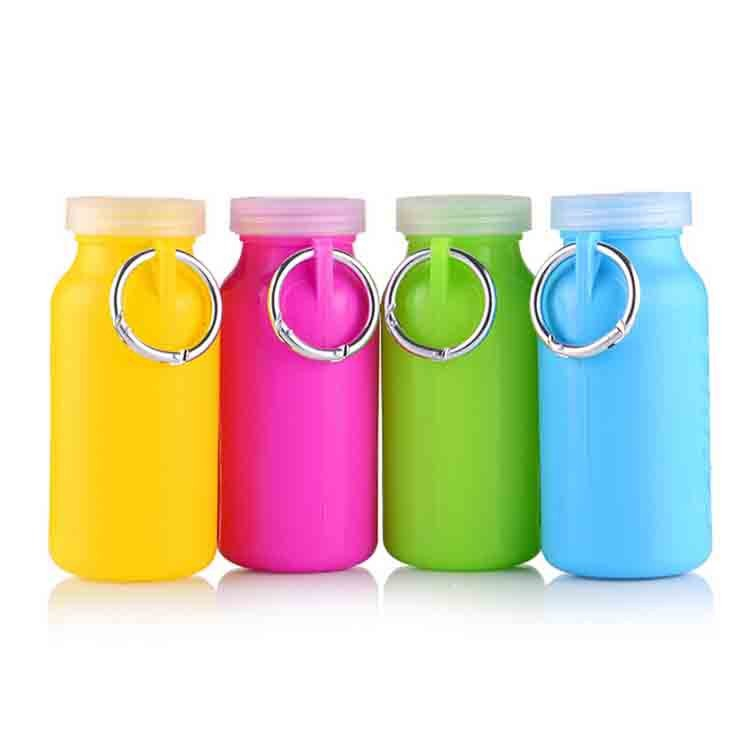 Portable folding silicone bottle in top quality