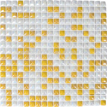 Normal Glass Surface Enamel Yellow Color Mosaic Tiles