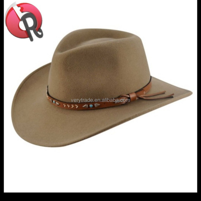 men's fashion 100% Australasian wool handmade felt fedora hat / dress hat / Street hat