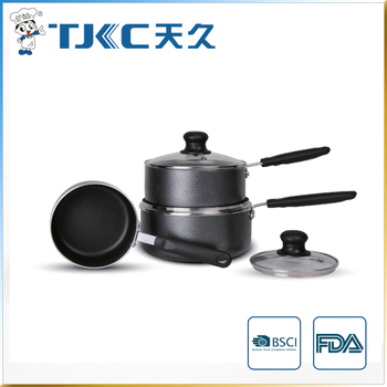 Non-stick Sauce Pan with Powder Coating and Strong Handle
