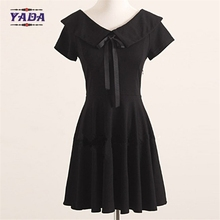 Ladies lolita collar pattern design party wear patterns loose t-shirt summer skirt t shirt dress with high quality