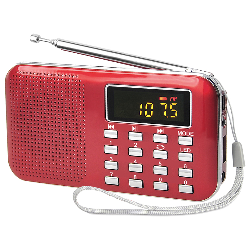 Built-In Speaker Function and rechargeable batteries Power Supply mini tf card player speaker pocket fm radio with usb