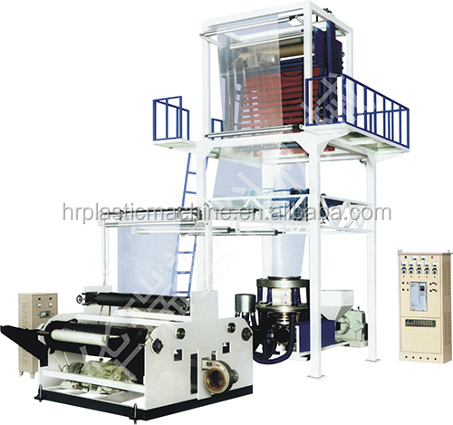 Blown 3 layers PE film co extruder with inverter roller machine and traction device