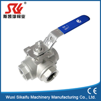Serviceable worm gear operate ball valve