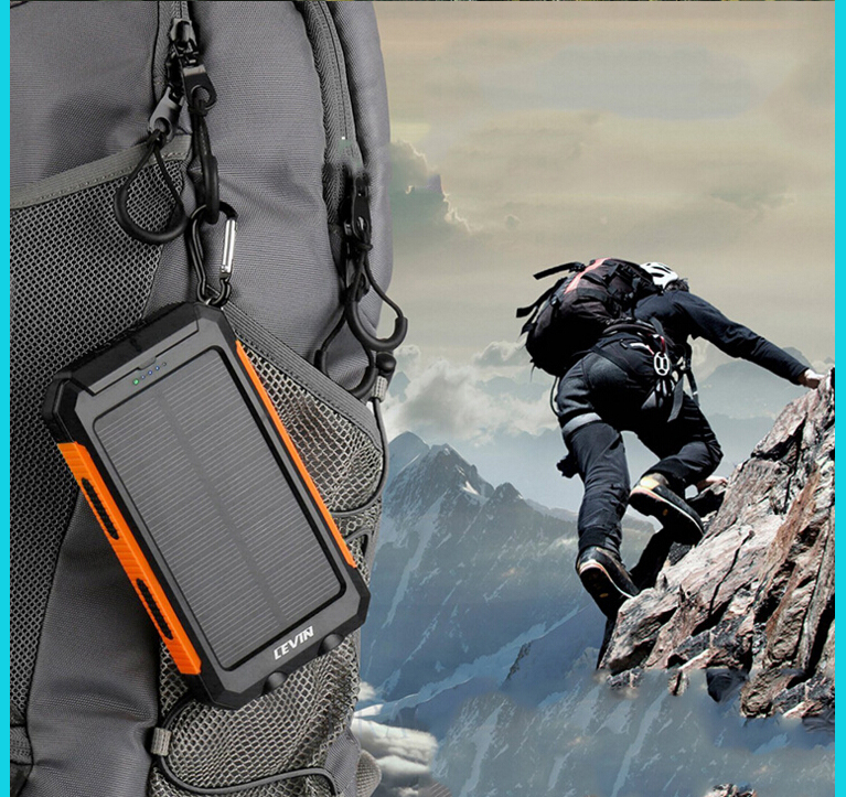 Outdoor sport solar power bank portable waterproof power bank best promotional gift
