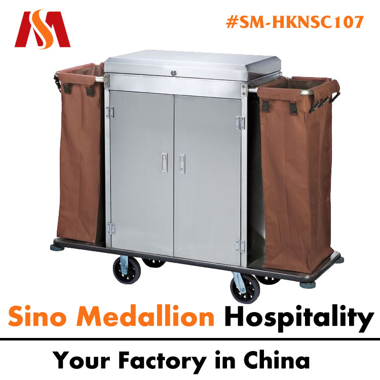 5 Star Hotel Resorts Guest Room Hotel Room Housekeeping Cleaning Trolley