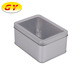 Promotional rectangle plain tin box with clear lid