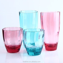 Acrylic Water Drink Cup,- Assorted colors