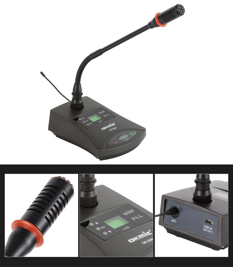 wireless gooseneck meeting microphone