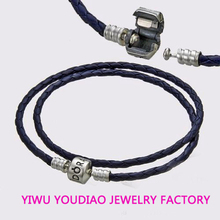 Double Woven Leather and Silver Braided Bracelet Sterling Silver Bracelet Wholesale