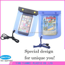 factory wholesale sales big size irregular best-sale PVC waterproof bag for mobile phones