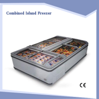 The supermarket cabinet freezer frozen Island combination freezer display cabinet freezer