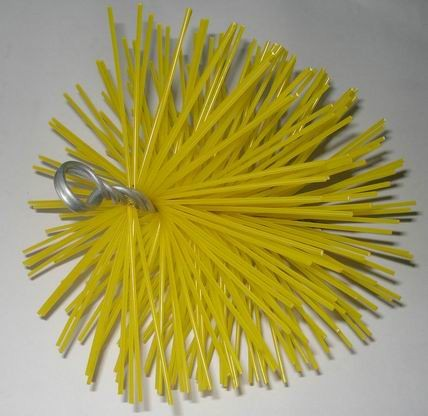 "6"" card wire round chimney brush"