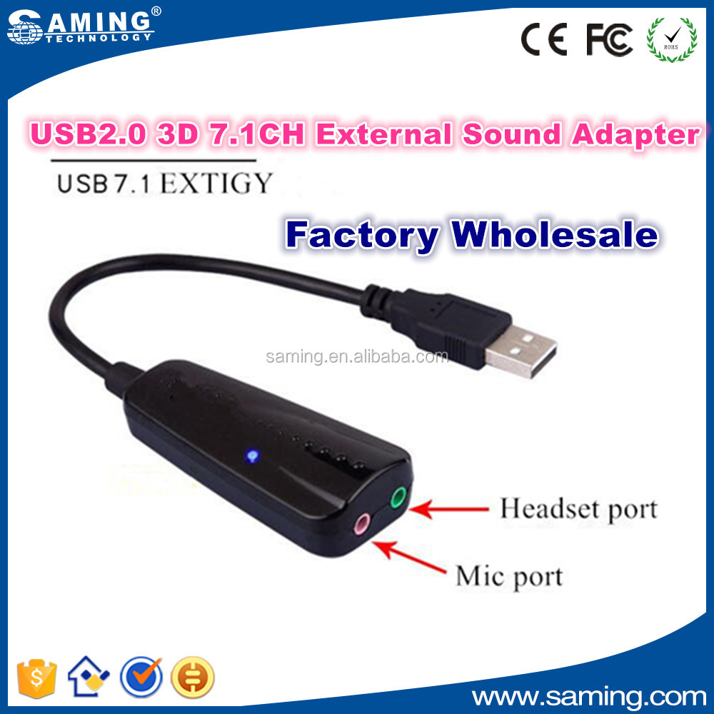 OEM USB 2.0 Sound Adapter factory wholesale