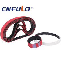 Red Coated Timing Belt for packing machine