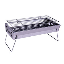 Factory price foldable stainless steel barbecue tools large size commercial indoor charcoal grill