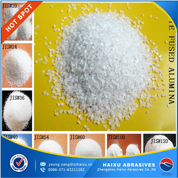 China manufacturer white fused aluminum oxide grains and powder