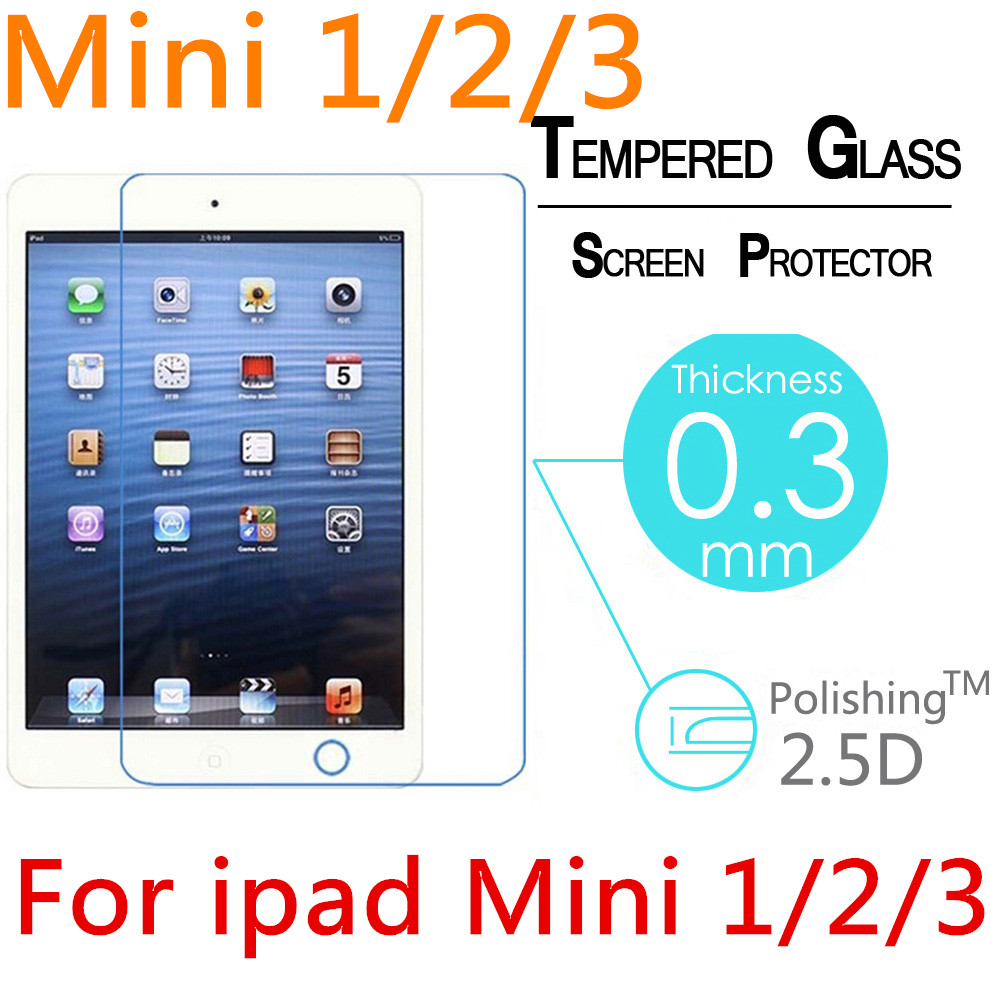 Anti-Scratch anti-Fingerprint Explosion proof Round Edge tempered glass for ipad mini 2 / 3 /4 screen protector