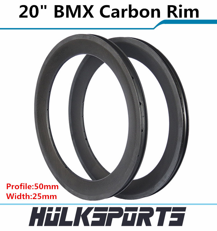 Top Sales BMX Rim 20 inch BMX Carbon Rims Clincher Bicycle Rims Chinese BMX Carbon Wheels 20 inch Carbon Folding Bike Wheel