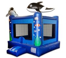 Ocean Bouncer Whales inflatable bounce house