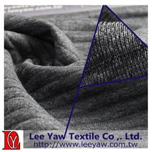 polyester heather 3 layer fabric corded interlock fabric