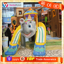 Sanhe Brand Cute Fiberglass Elephant water park slides for sale